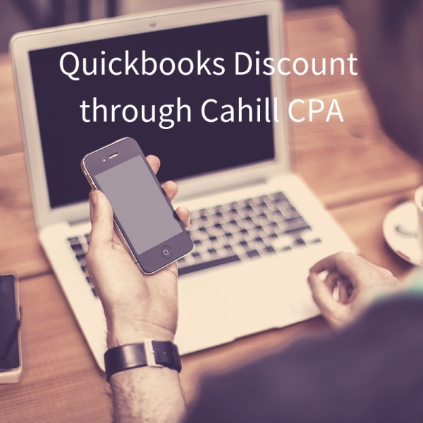 Quickbooks Discount through Cahill CPA